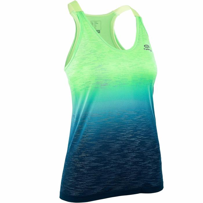 CAMISETA DE TIRANTES MUJER RUNNING CARE CON TOP VERDE DEGRADADO
