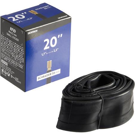 """20"""" 1,7 līdz 2,2 kamera ar """"Schrader"""" ventili"""