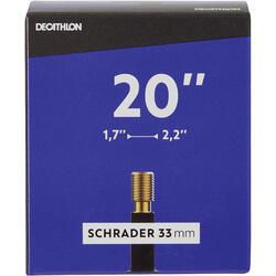 """20"""" 1.7 to 2.2 Schrader Valve Inner Tube"""