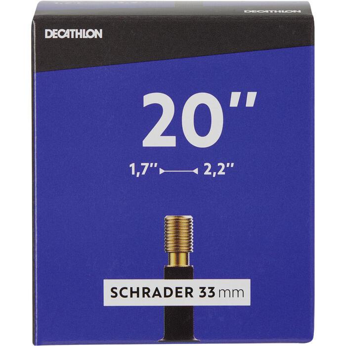 Fahrradschlauch 20 x 1,7/2,2 Schrader 33 mm