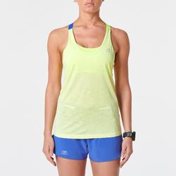 CAMISETA DE TIRANTES MUJER RUNNING CARE CON TOP AMARILLO