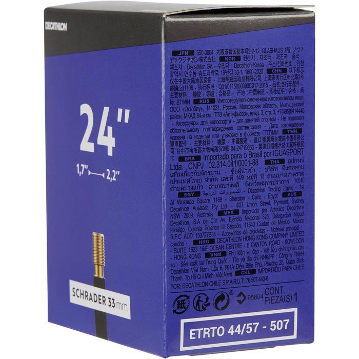 Binnenband 24 inch doorsnede 1.7 tot 2.2 Schrader-ventiel