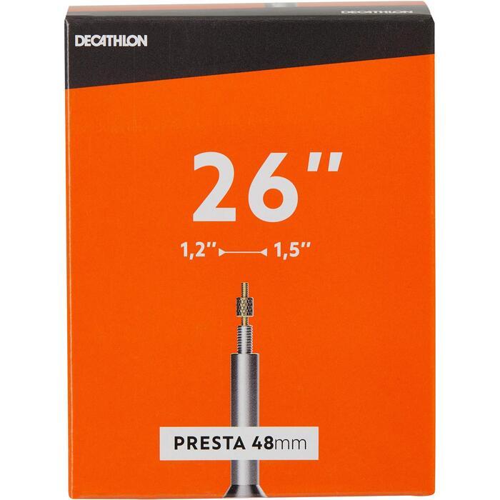 Fahrradschlauch 26 × 1,2/1,5 Presta 48 mm