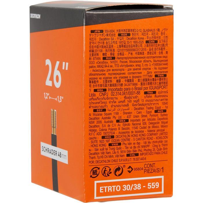 Fahrradschlauch 26×1,2/1,5 Schrader 48 mm