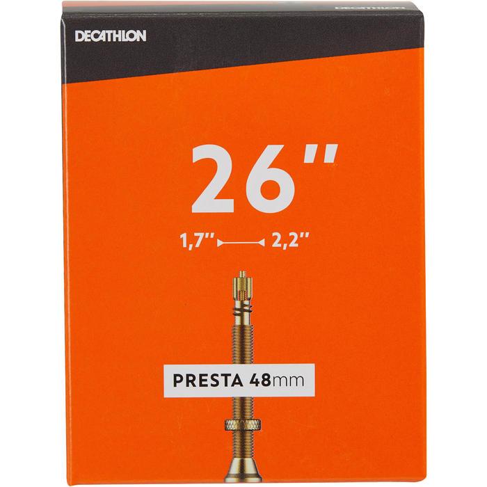 Fahrradschlauch 26×1,7/2,2 Presta 48 mm
