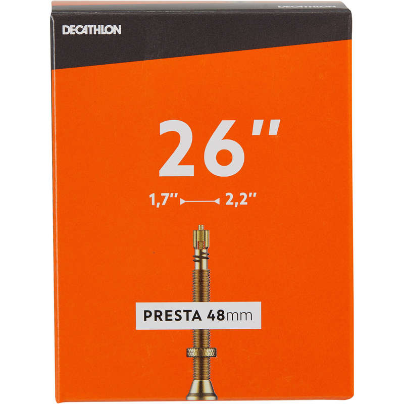 Велосипедные камеры Запчасти - Камера 26 x 1.7/2.2 Presta BTWIN - SSE