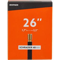Fahrradschlauch 26Zoll ×1,7/2,2 Autoventil (Schrader) 48mm