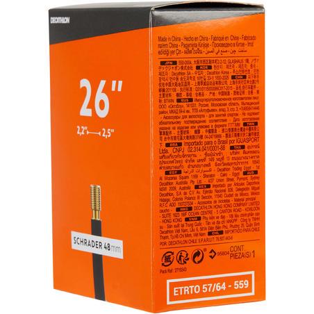 Chambre à air 26x2,2/2,5 Shrader 48mm