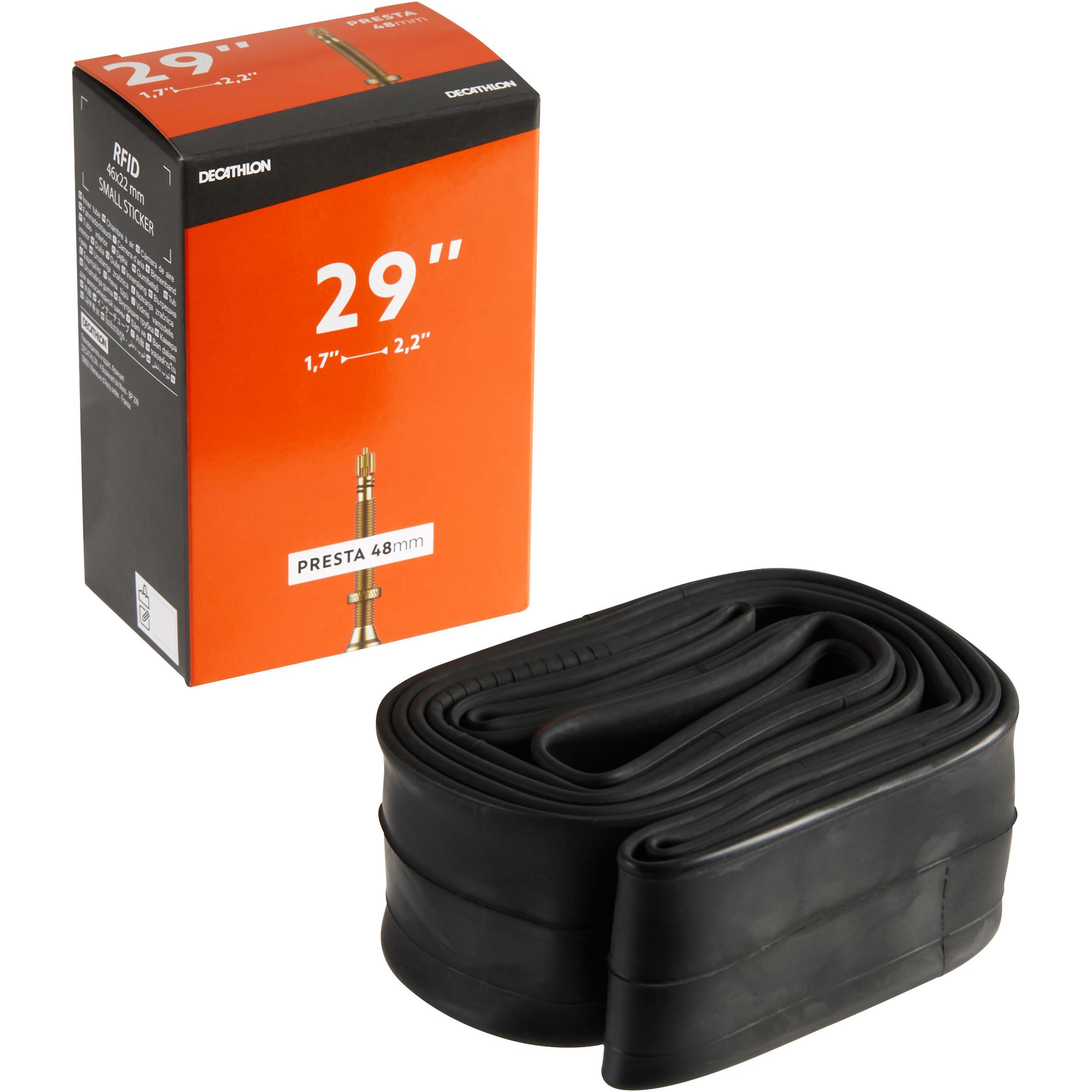 29x1.7/2.2mm Presta Valve Inner Tube 48mm