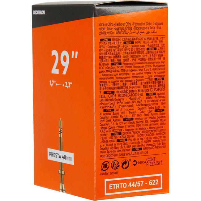 29x1.7/2.2 mm Presta Valve Inner Tube 48 mm