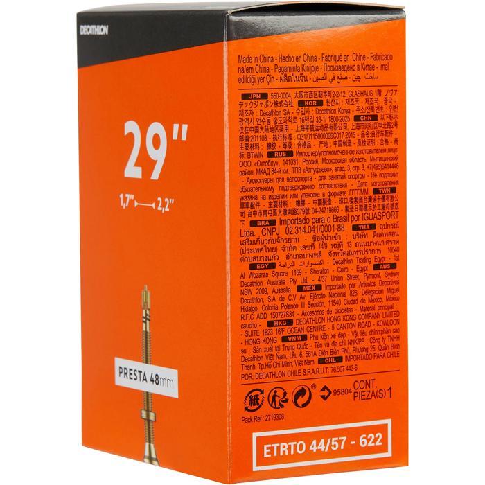 29 x 1.7/2.2 mm法式氣嘴自行車內胎48 mm