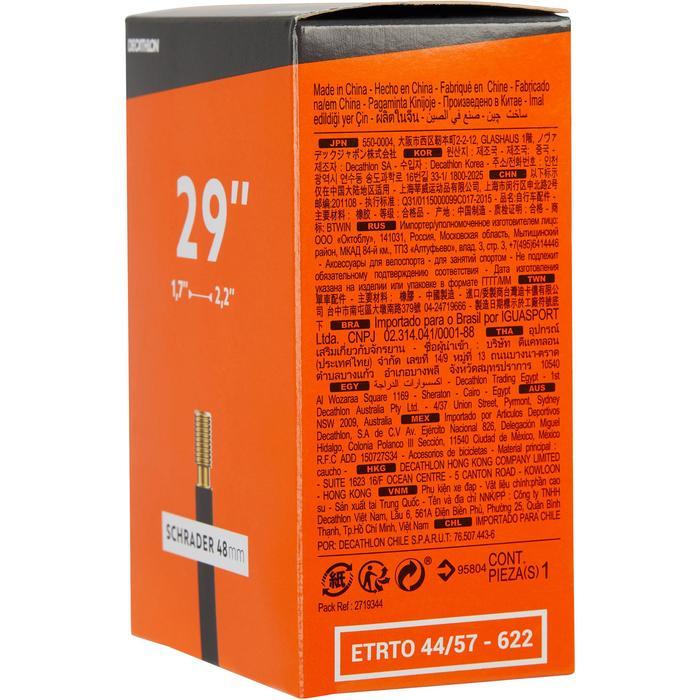 Fahrradschlauch 29×1,7/2,2 Schrader 48 mm