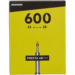Fahrradschlauch 600 × 23/28 Presta 48 mm