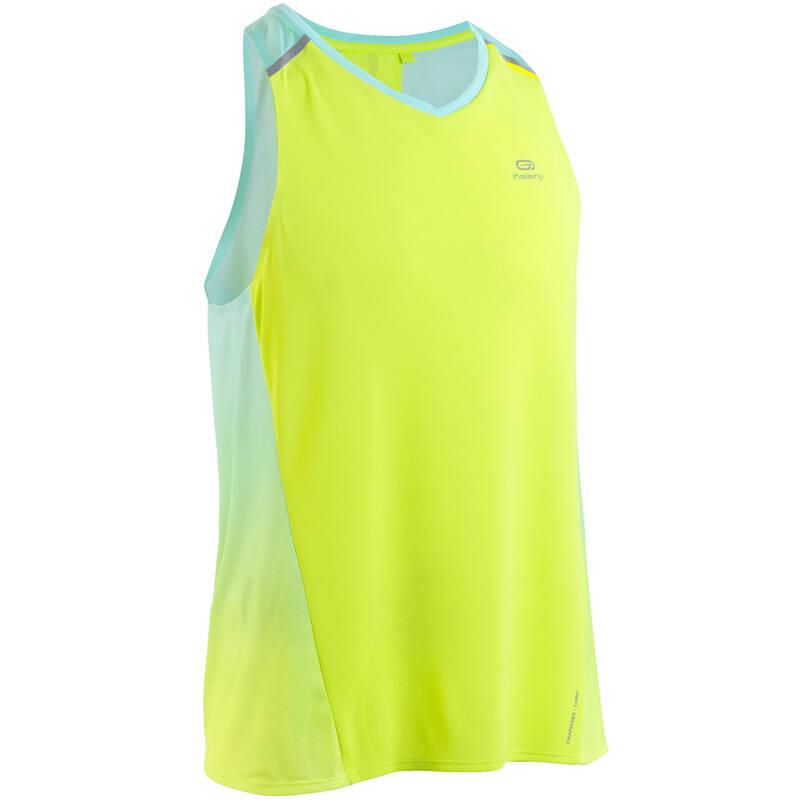 PÁNSKÉ BĚŽECKÉ OBLEČENÍ NA BĚH PO SILNICI Běh - TÍLKO KIPRUN LIGHT ŽLUTÉ KIPRUN - Běžecké oblečení