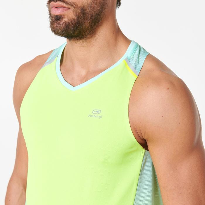 Camiseta Sin Mangas Running Kalenji Kiprun Light Hombre Amarillo/Verde