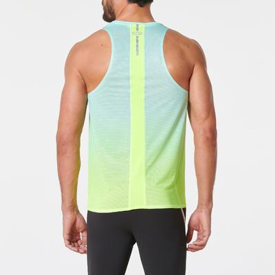 Camiseta Esqueleto Running Kalenji Kiprun Light Hombre Amarillo/Verde