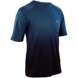 男款跑步T恤KIPRUN CARE - 綠色/黑色
