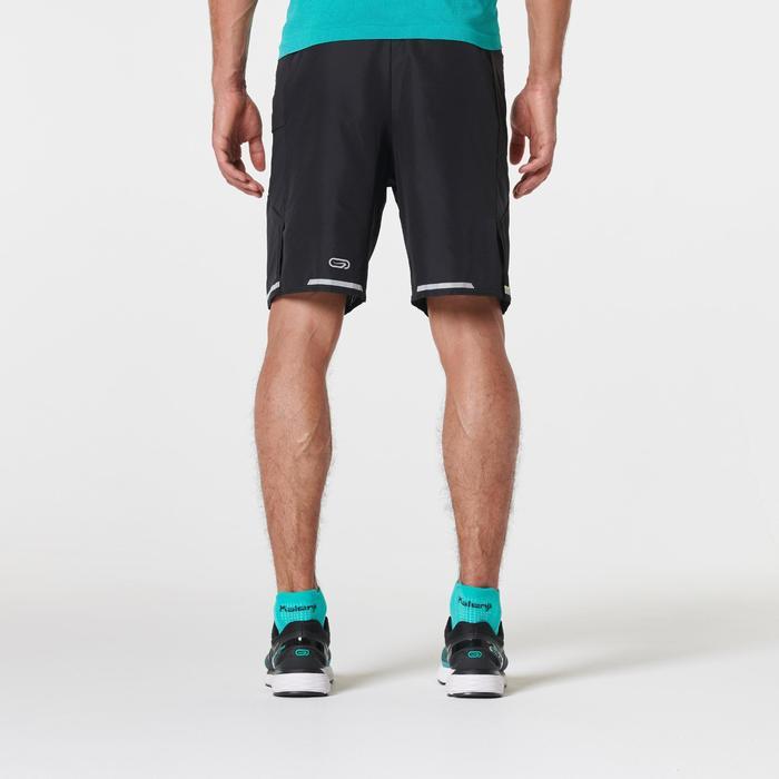 Pantalon Corto Deportivo Running Kalenji Maratón Hombre Negro