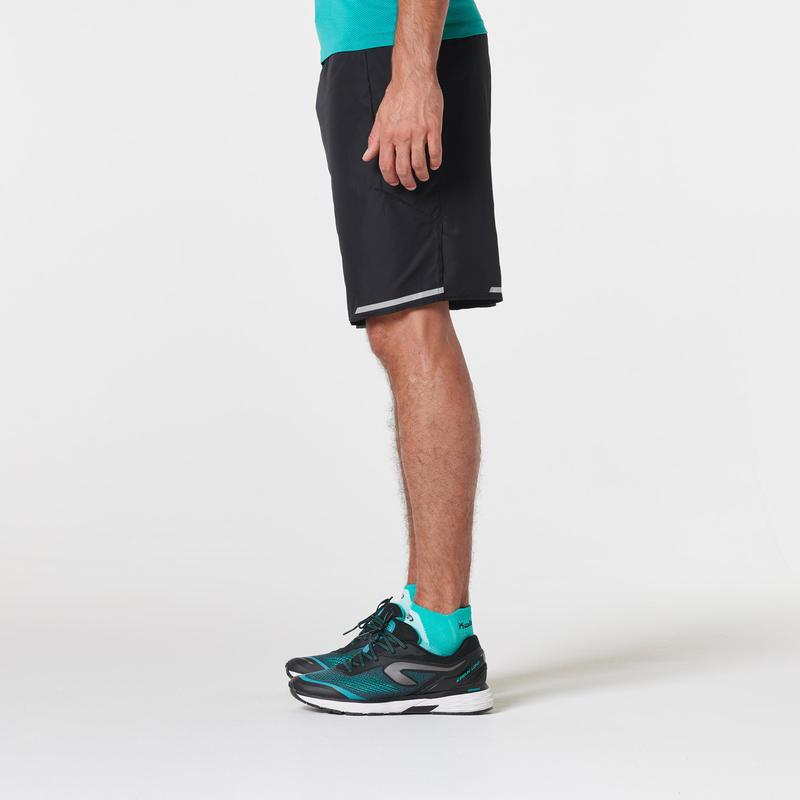 กางเกงวิ่งมาราธอนขาสั้นสำหรับผู้ชาย (สีดำ)