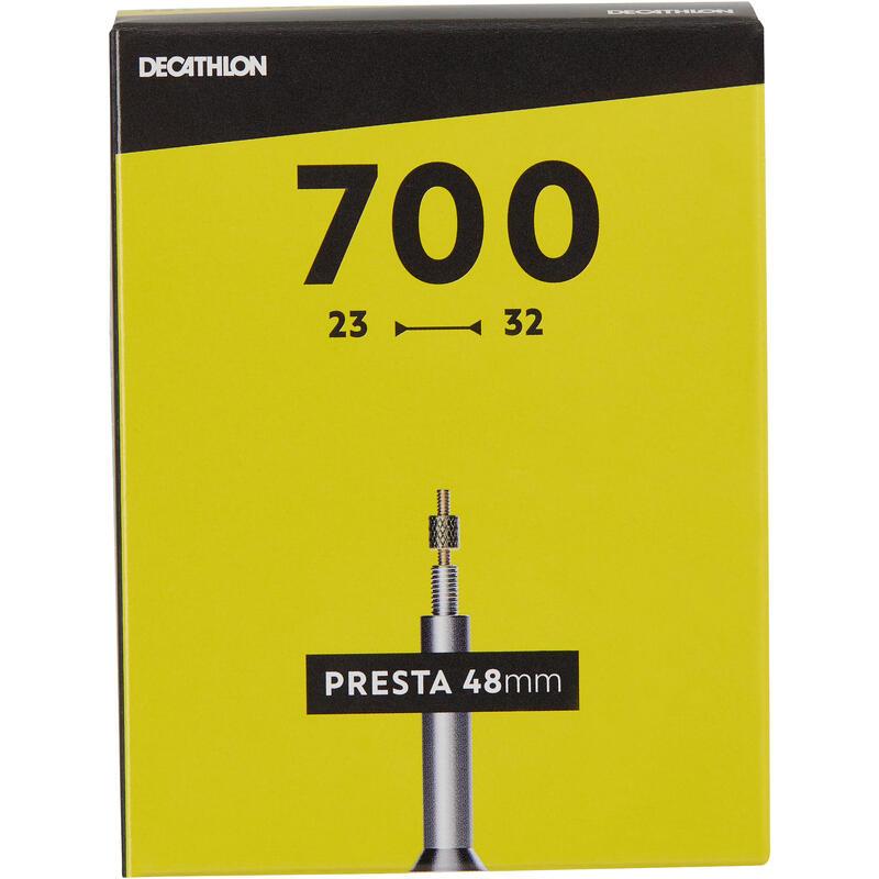 """700 x 23 / 32 kamera su 48 mm """"Presta"""" ventiliu"""