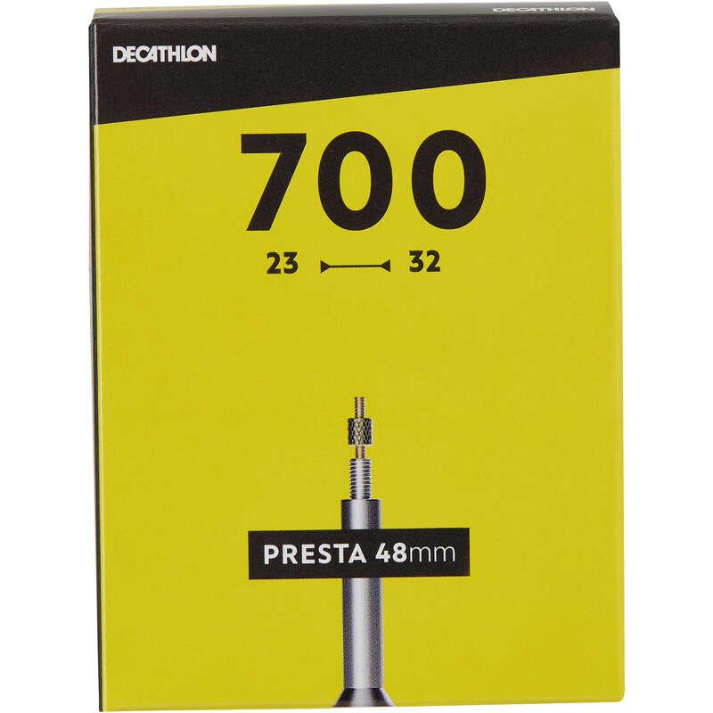 Dętki rowerowe Rowery - DĘTKA 700x23/32 PRESTA 48 MM BTWIN - Części rowerowe