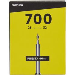 Fahrradschlauch 700 x 18/25 mit Presta-Ventil 60 mm