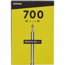 80 mm法式氣嘴自行車內胎700 x 23/32