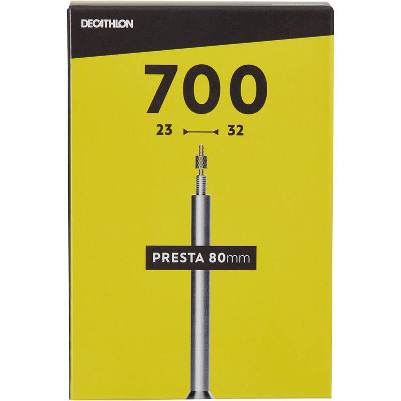 DUŠE Cyklistika - DUŠE 700 × 23/32 PRESTA 80 MM BTWIN - Náhradní díly a údržba kola