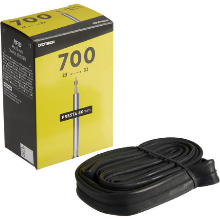 700x23-32 Bike Inner Tube, 80mm Valve - Presta