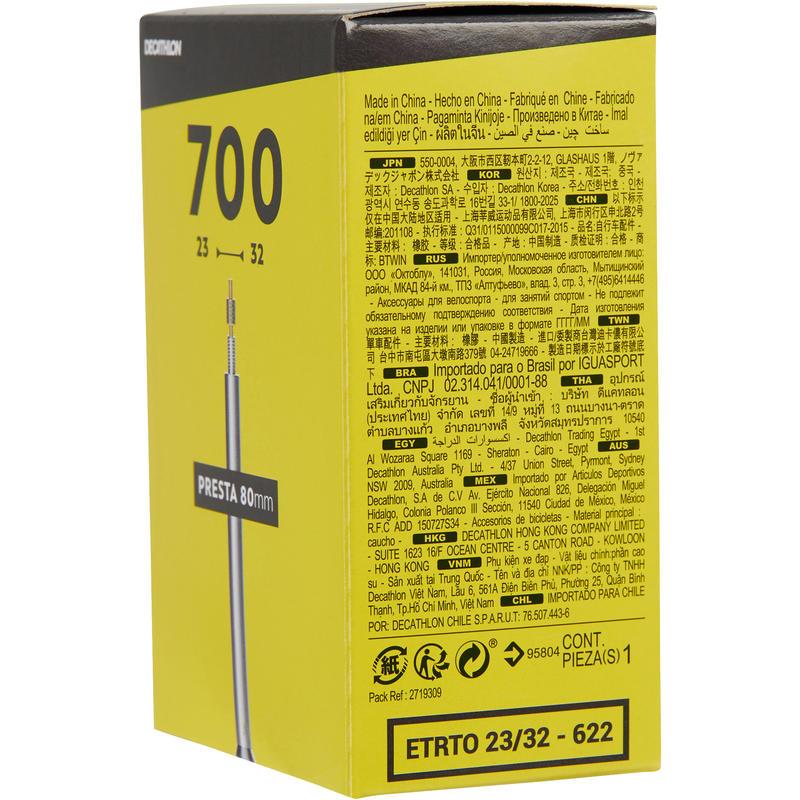 700x23/32 80 mm Presta Valve Inner Tube
