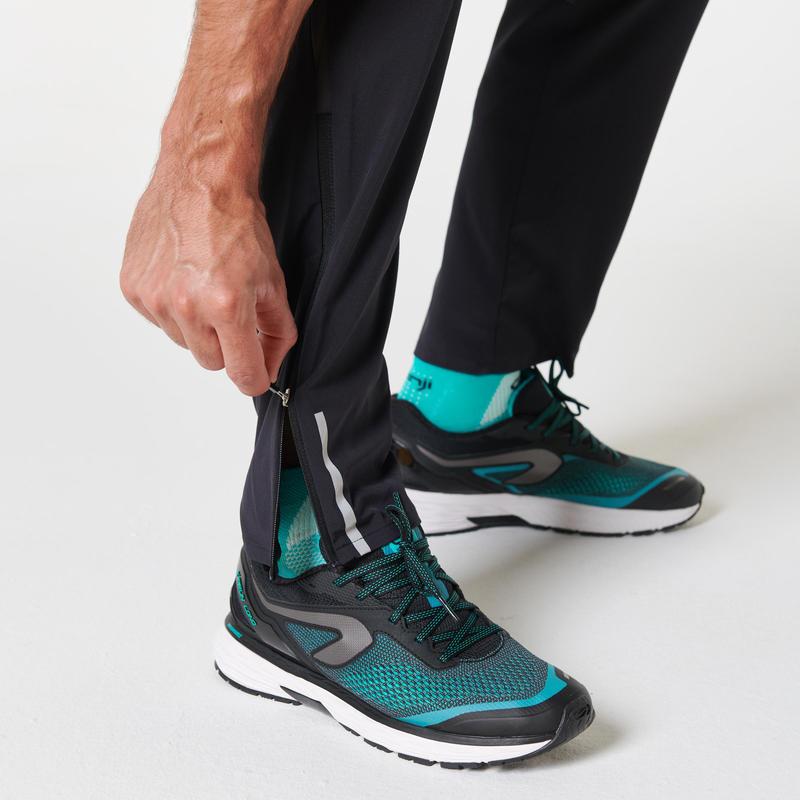 กางเกงขายาวผู้ชายมีคุณสมบัติระบายอากาศได้ดีสำหรับใส่วิ่งรุ่น KIPRUN (สีดำ)