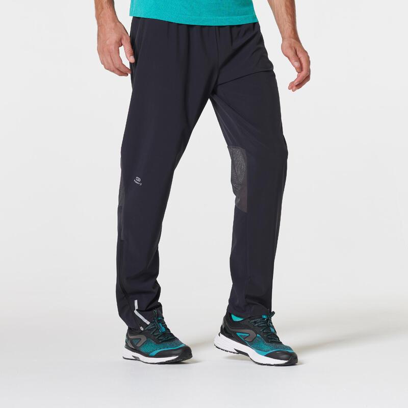 Pantalón Running Kiprun Hombre Negro Transpirable