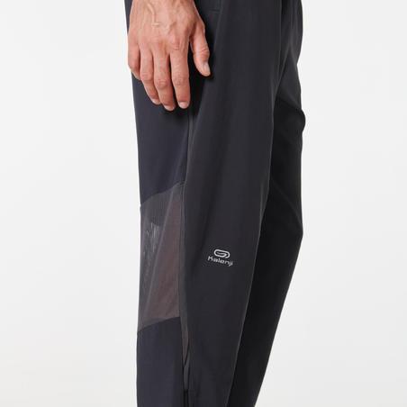Men's Running Pants (Breathable) Black - Kiprun