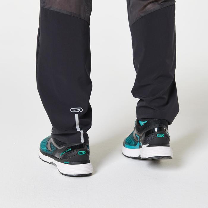 男款透氣跑步長褲KIPRUN - 黑色
