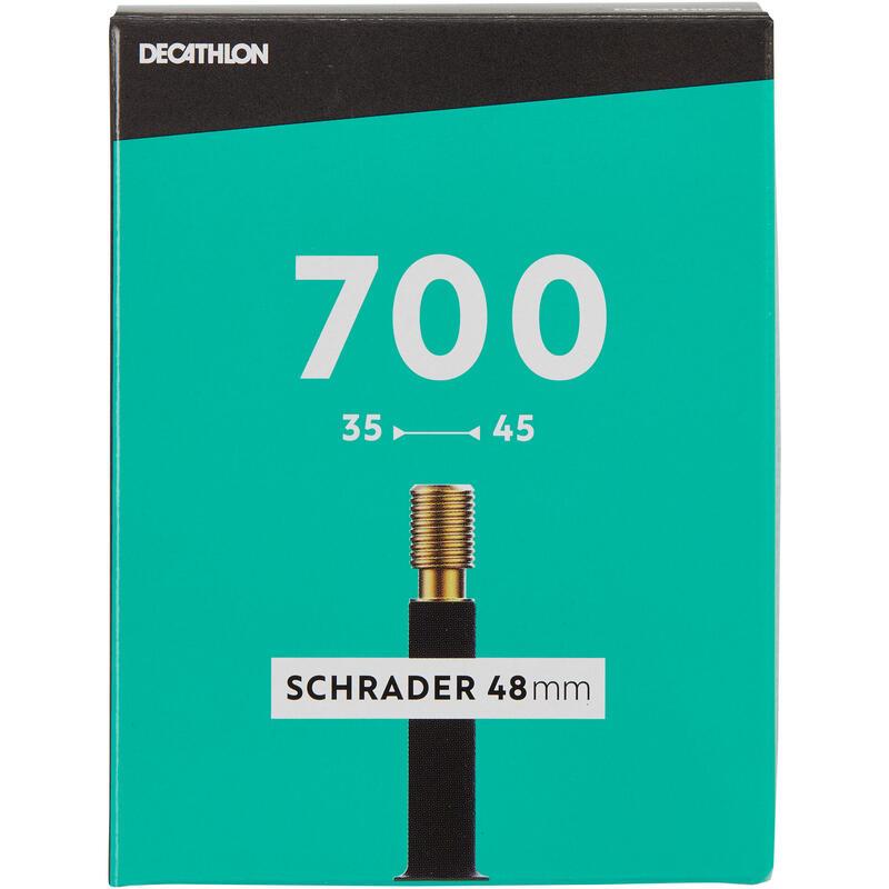 """700 x 35 / 45 """"Schrader"""" tipo kamera, 48 mm"""
