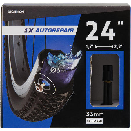 24x1.7-2.2 Self-sealing Bike Inner Tube - Schrader