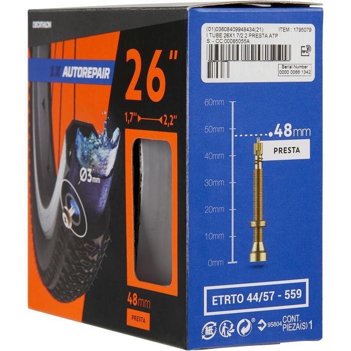 Fahrradschlauch 26 x 1,7/2,2 selbstreparierend Presta-Ventil