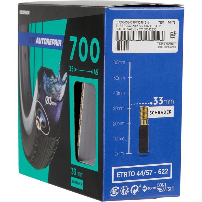Fahrradschlauch 28 Zoll 700 x 35/45 selbstreparierend Autoventil 33 mm