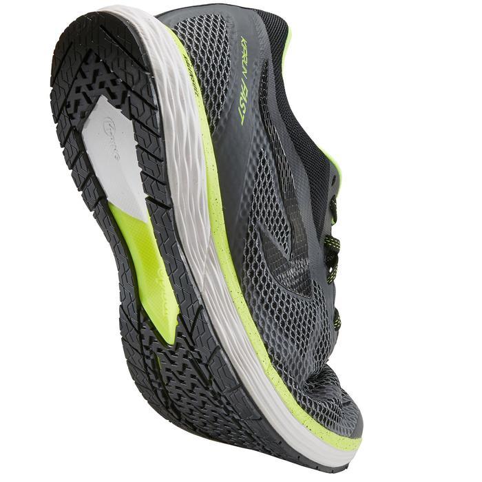 Zapatillas Running Kalenji Kiprun Fast Hombre Gris/Amarillo Limón