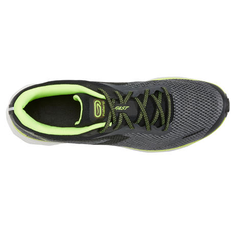 Kiprun Fast 2 Men's Running Shoes Grey Yellow