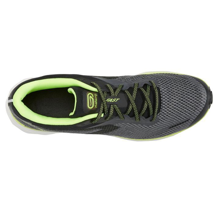 男款跑鞋KIPRUN FAST 2灰色黃色