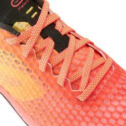 Hardloopschoenen voor dames Kiprun Ultralight koraal/geel