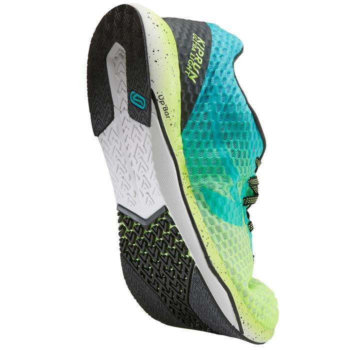 KIPRUN ULTRALIGHT MEN'S RUNNING SHOES - GREEN/YELLOW