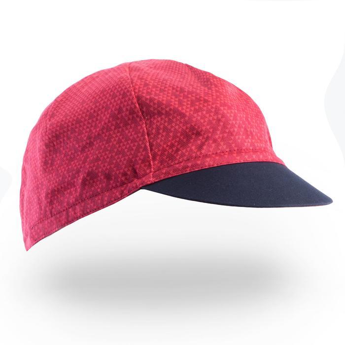 Fahrrad-Mütze Rennrad RR 500 marineblau/rosa