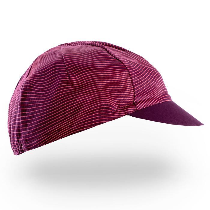 Fahrrad-Mütze Rennrad RR 500 lila/rosa
