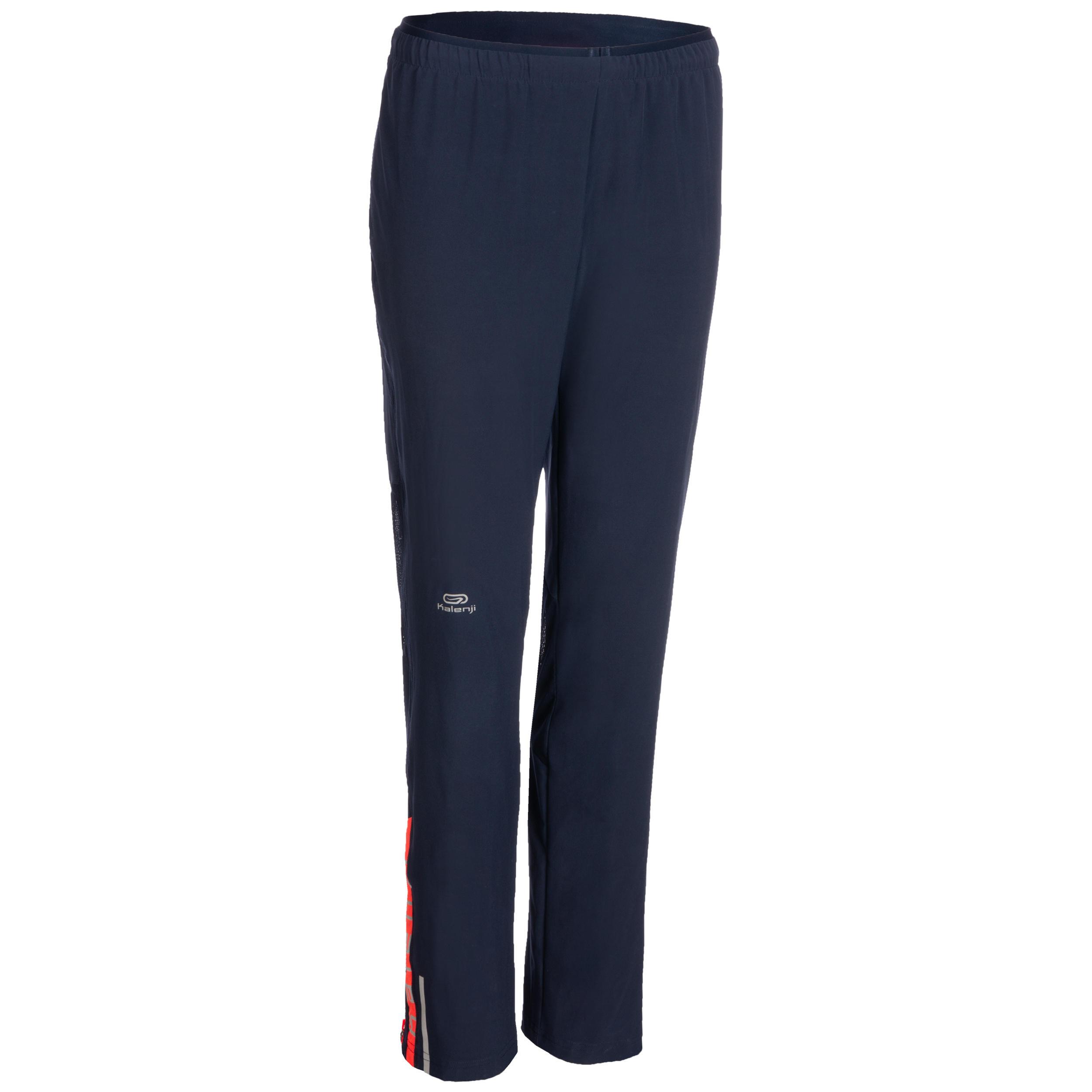 Laufhose lang Leichtathletik Damen dunkelblau