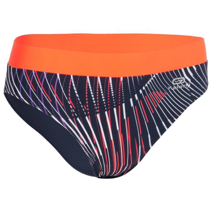 女款田徑三角褲 - 藍色與橘色