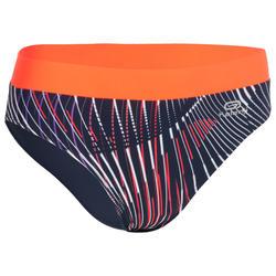Atletiekslip voor dames blauw/oranje