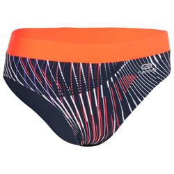 WOMEN'S ATHLETICS BRIEFS BLUE AND ORANGE