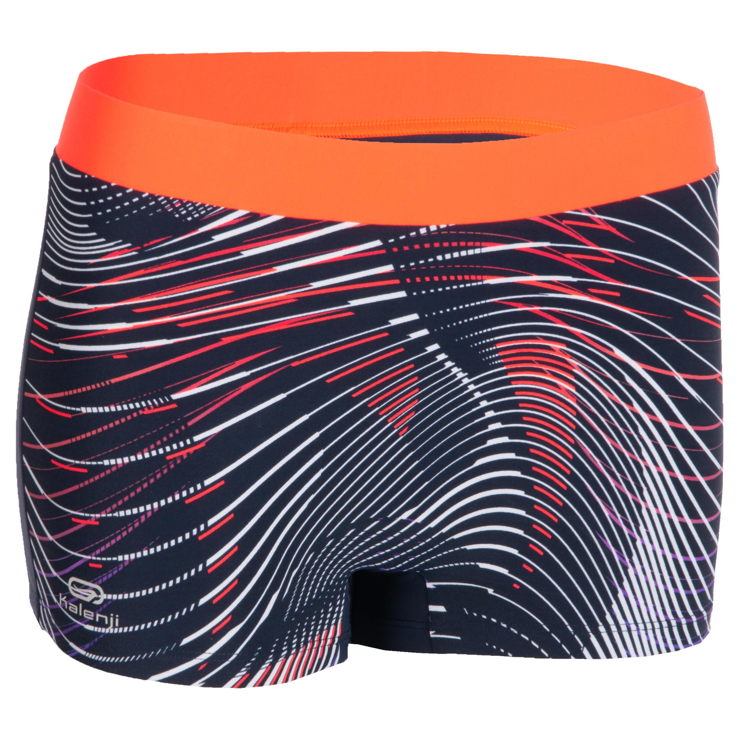 Laufhose Shorty Damen blau/orange | Sportbekleidung > Sporthosen > Laufhosen | Kalenji